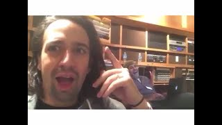 Lin Manuel Miranda's hilarious reaction to Groffsauce's burp while singing You'll Be Back