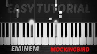 Eminem - Mockingbird - Epic Piano Easy Tutorial / Cover - Synthesia