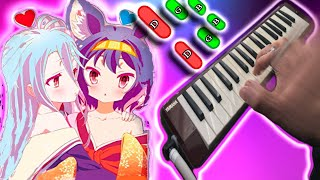 OP no game no life this game 🎹 MELODICA tutorial con notas (melodica♣chan)