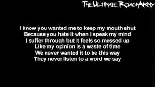Papa Roach - Silence Is The Enemy {Lyrics on screen} HD