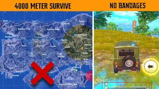 Impossible Survive ( 4000m Travelled ) with only 8 Bandages | Pubg Players Should Watch | Gamexpro