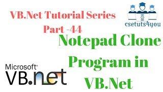 VB.Net Tutorial Series Part -44 Implementing MenuScript and ContextMenuScript code