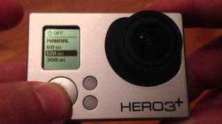 GoPro Hero3 Plus:Auto / Manual Power Off [HD]