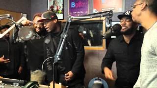 NATURALLY 7 sings in B98.7 studios