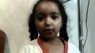Vanusa Cover Yasmin cantando o hino nacional