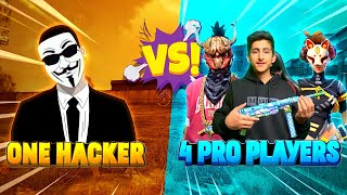 1 Hacker Vs 3 Pro Player Free Fire Biggest Hacker |  Who will Win? A_s Gaming - Garena Free Fire