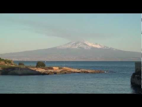 Mount Etna, Sicily and my camper van at Christmas