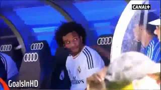 Funny: Marcelo & Iker Casillas & Morata during Athletic Match