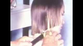 méthode de couper les cheveux lisse en dégradé effilé