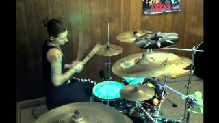"""Drum cover by Angel - """"Come with me Now"""" - by: Kongos"""