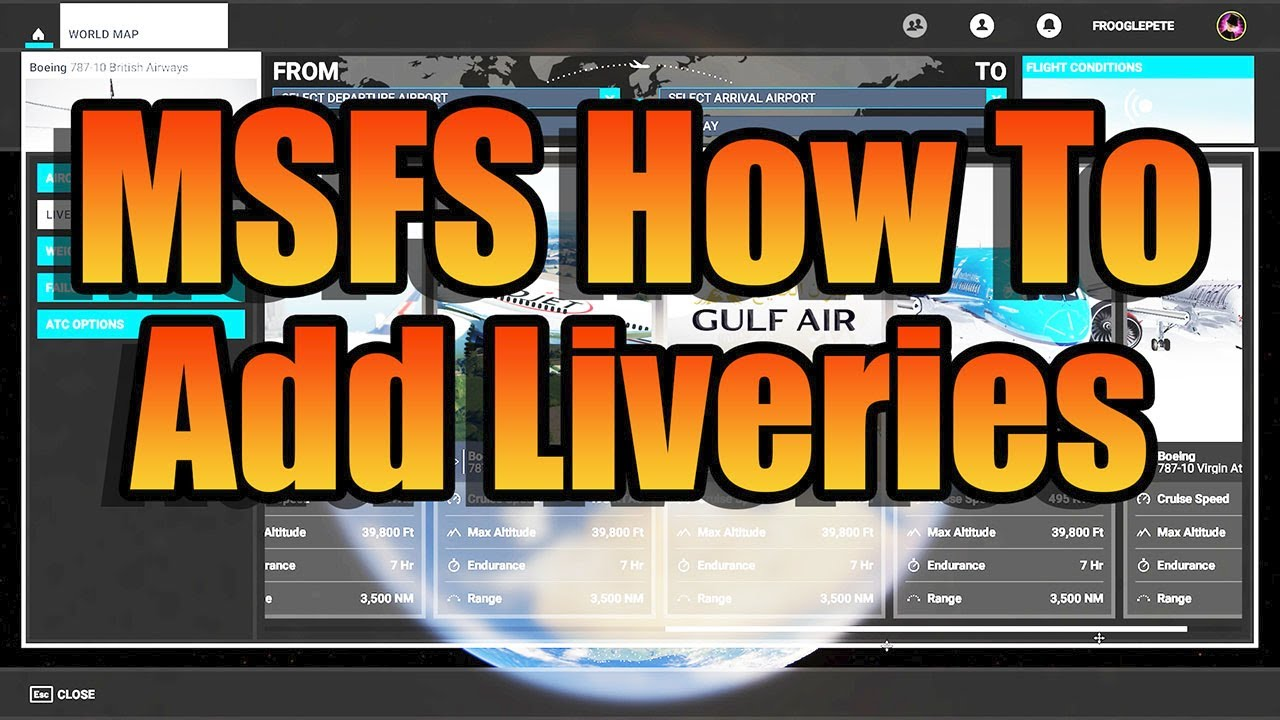 frooglesim - MSFS HOW TO: LIVERIES