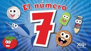 El número 7 en español para niños - Videos Aprende