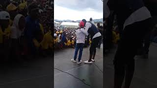 Jah Signal and Mountain Kid perform together  at Sakubva Stadium