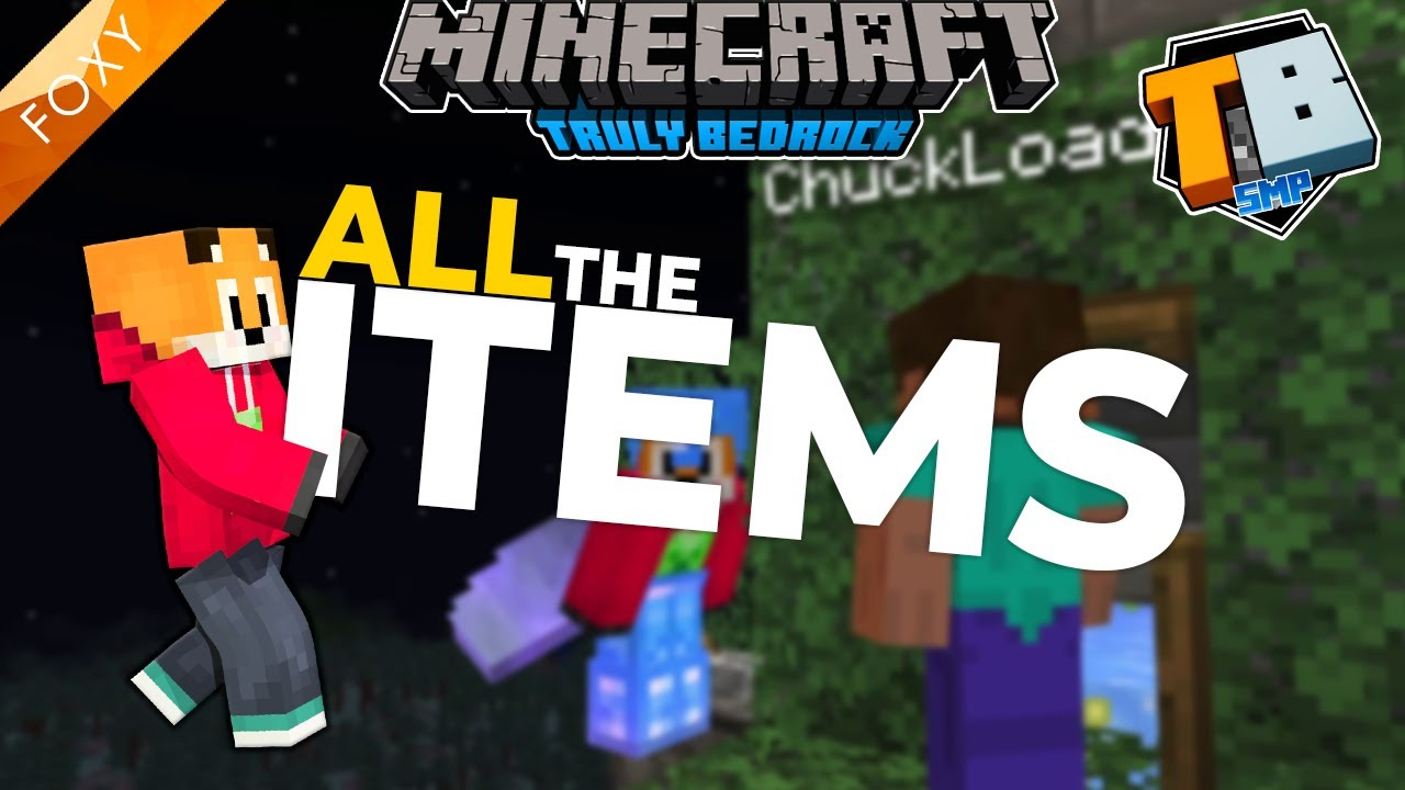 FoxyNoTail - ALL the Items   Truly Bedrock Season 2 [53]   Minecraft Bedrock Edition 1.16.4