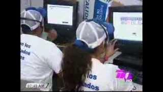 Armando Calidonio muestra el mas avanzado centro de computo para el día de las elecciones SPS