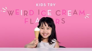 Kids Try Weird Ice Cream Flavors | Kids Try | HiHo Kids