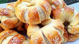 Türkische Pogaca Hörnchen Teigtaschen mit Kartoffelfüllung Börek