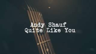 ANDY SHAUF - QUITE LIKE YOU ( LYRICS VIDEO)