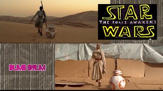 Star Wars: The Force Awakens trailer sweded side by side comparison