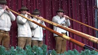 Eifeler Alphornissen Live @Cologne Cathedral Christmas Market – Shepherds Call