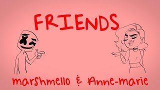 Friends Clean Lyrics Anne Marie and Marshmello