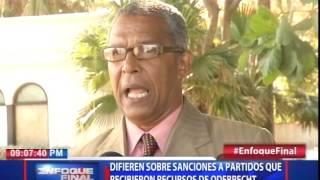 Difieren sobre sanciones a partidos que recibieron recursos de Odebrecht