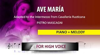 Ave Maria / Instrumental / Pietro Mascagni / High voice