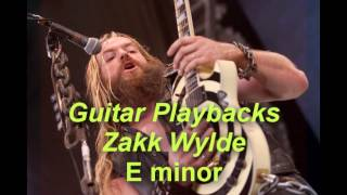 Backing Track in E Minor Style Zakk Wylde