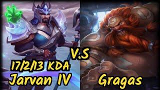 Cabochard (JARVAN IV) vs GRAGAS - 17/2/13 KDA TOP GAMEPLAY - EUW Ranked DIAMOND