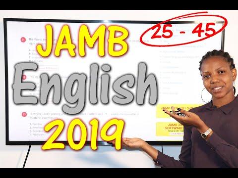 JAMB CBT English 2019 Past Questions 25 - 45