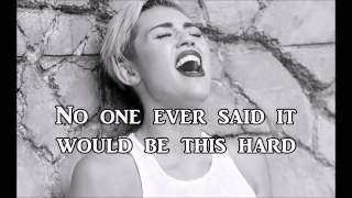 Miley Cyrus - The scientist - Cover (Lyrics)