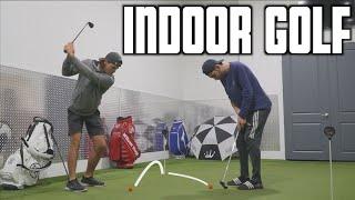 Crazy 2v2 Indoor Golf Challenge | GM GOLF