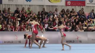 Worldcup Acro 2016 Puurs/Belgium Final WG Final CHN 4th place