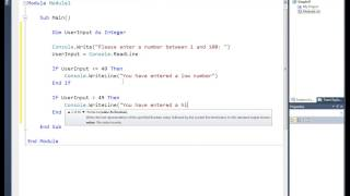 VB.NET 2010: Tutorial 4: Simple If Statements width=