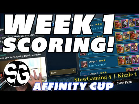 RAID SHADOW LEGENDS | WEEK 1 SCORES! AFFINITY CUP | KIZZLE MURDERINC & COLD BREW GAMING