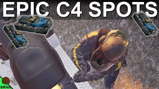 NEW C4 Spots With New C4 Physics - Chalet Snowmobile Garage - Rainbow Six Siege White Noise