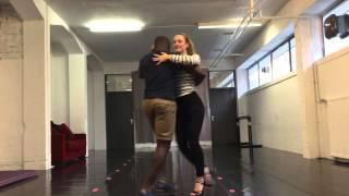Semba practice with Daniel and Josephine