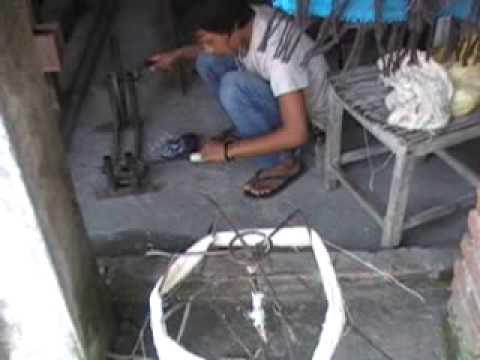 Purna Kumar Rai winding yarn onto a spool 2