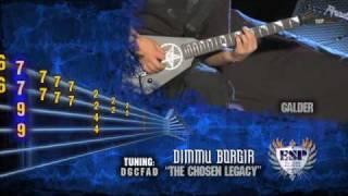 "Galder of Dimmu Borgir: ""The Chosen Legacy"" Animated Guitar Tablature"
