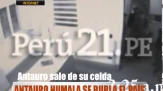 Antauro Humala se burla del país