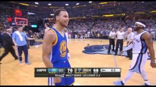 Stephen Curry Crazy 3rd Qtr Buzzer Beater | NBA Playoffs 2015 | Warriors vs Grizzlies Game 6