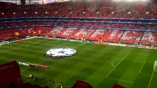 Hino da Liga dos Campeões : Benfica - Manchester United (14-09-2011)