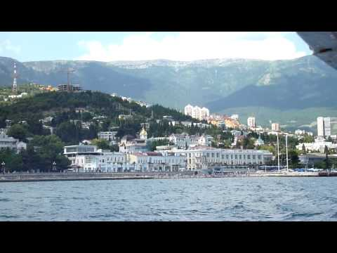 View of Yalta from the tour boat.