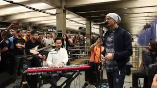 "Linkin Park LIVE in Grand Central Station: ""Crawling"""