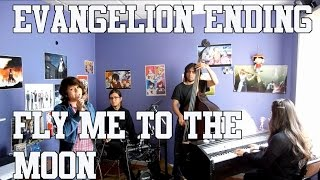 """Neon Genesis Evangelion Ending - """"Fly me to the moon""""  ( Jazz Band Cover)"""