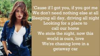 Lea Michele ~ Getaway Car ~ Lyrics