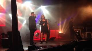 Jorge Ferreira com Maryline Garcia. Papai. Em São Paio de Vizela