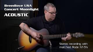 Breedlove USA Concert Moonlight E | 60 sec acoustic | 60 sec electric | 60 sec review