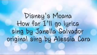 Disney's Moana - How far I'll go lyrics (Janella Salvador)