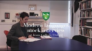 Mock Interview | Modern Languages | Jesus College, Oxford.